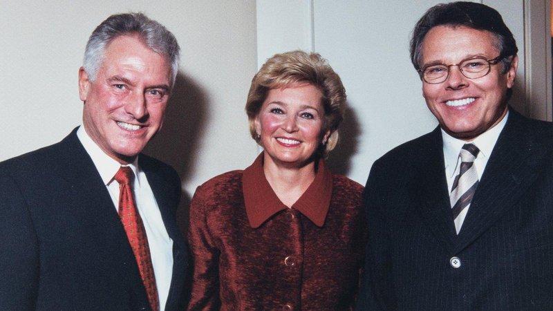 Jürg Reinshagen mit Mariss Jansons und dessen Frau Irina