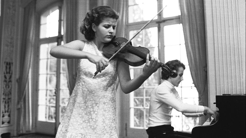 Anne-Sophie Mutter debutiert in Luzern, 1976