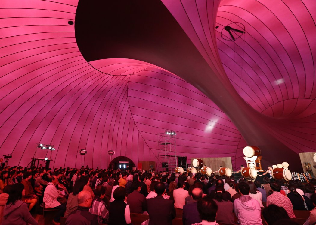 The most gorgeous inflatable concert hall ark nova is for Inflatable concert hall