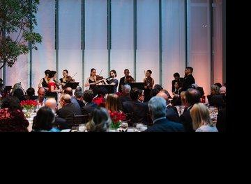 Michelle Ross (violin), Marina Kifferstein (violin), Lavinia Pavlish (violin), Claudia Schaer (violin), Rosie Gallagher (transverse flute), Josh Henderson (violin), Dana Kelley (viola), Doug Balliett (double bass), Michael Katz (cello)