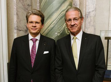 Dr. Zeno Staub (CEO of Vontobel) and Dr. iur. Hubert Achermann Hubert Achermann (Chairman of the Board of Trustees LUCERNE FESTIVAL and the Foundation Friends of LUCERNE FESTIVAL)