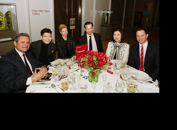 Michael Haefliger (Executive and Artistic Director of LUCERNE FESTIVAL) with his wife Andrea Lötscher and their guests