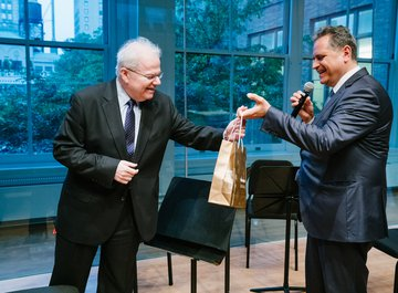 Emanuel Ax and Michael Haefliger, Executive and Artistic Director of Lucerne Festival - © Fadi Kheir