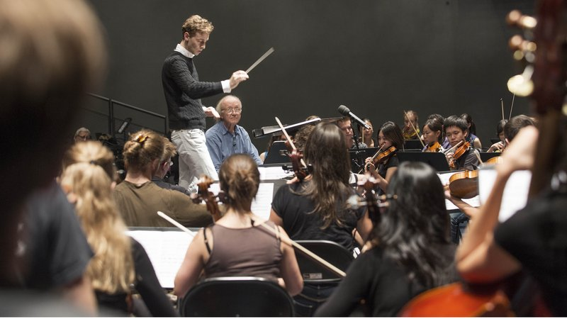 Maste Class in Conducting with Heinz Holliger © Priska Ketterer/LUCERNE FESTIVAL