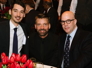Dominik Deuber (Managing Director LUCERNE FESTIVAL ACADEMY), Matthias Pintscher (Conductor of the LUCERNE FESTIVAL ACADEMY) and Eric Latzky (Culture and Communications New York)