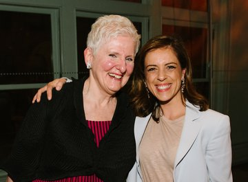 Mary Lou Falcone with Valentina Rota (Executive Director Foundation Friends of LUCERNE FESTIVAL and Director of Development American Friends of LUCERNE FESTIVAL)