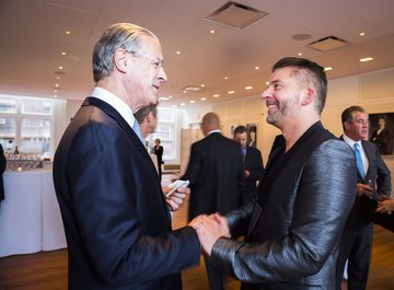 Dr. jur. Hubert Achermann, Chairman of the Board of Trustees LUCERNE FESTIVAL and the Foundation Friends of LUCERNE FESTIVAL | Mr. Matthias Pintscher, Principal Conductor of the LUCERNE FESTIVAL Academy